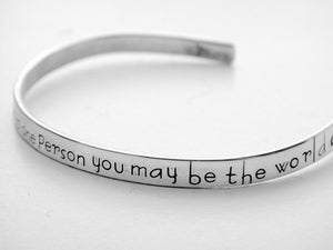Image of To one person you may be the world bracelet