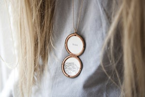 Image of 'home is where your heart is' necklace (mountain)