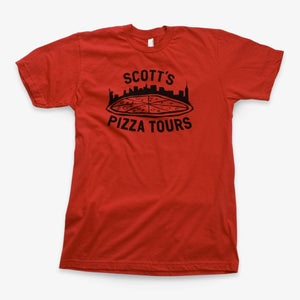 Image of Scott's Pizza Tours Red T-shirt