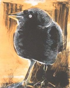 Image of Starlings of Fort Mason No. 2 (Bird on orange ground)