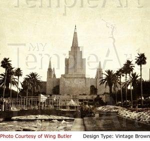 Image of Oakland California LDS Mormon Temple Art 001 - Personalized LDS Temple Art
