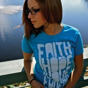 Image of faith hope love faveur| Turquoise