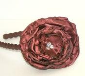 Image of Copper Rose Satin headband