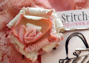 Image of Pink Rose millinery hairpins-Set of 2