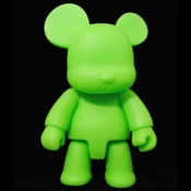 "Image of Qee Neon Bear Green 8"" DIY GID"
