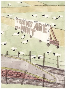 Image of Trains Are... Mint - Oliver East