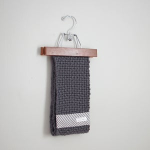 Image of handwoven loop scarf gray