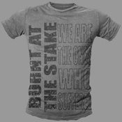 Image of 'Suffer' Tee - Charcoal Grey