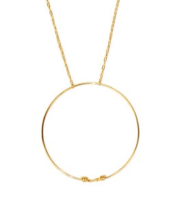 Image of LONG CIRCLE NECKLACE