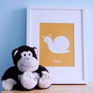 Image of ART PRINT | snail personalised