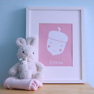 Image of ART PRINT | acorn personalised