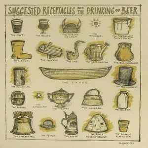 Image of Suggested Receptacles for the Drinking of Beer-Cream Version