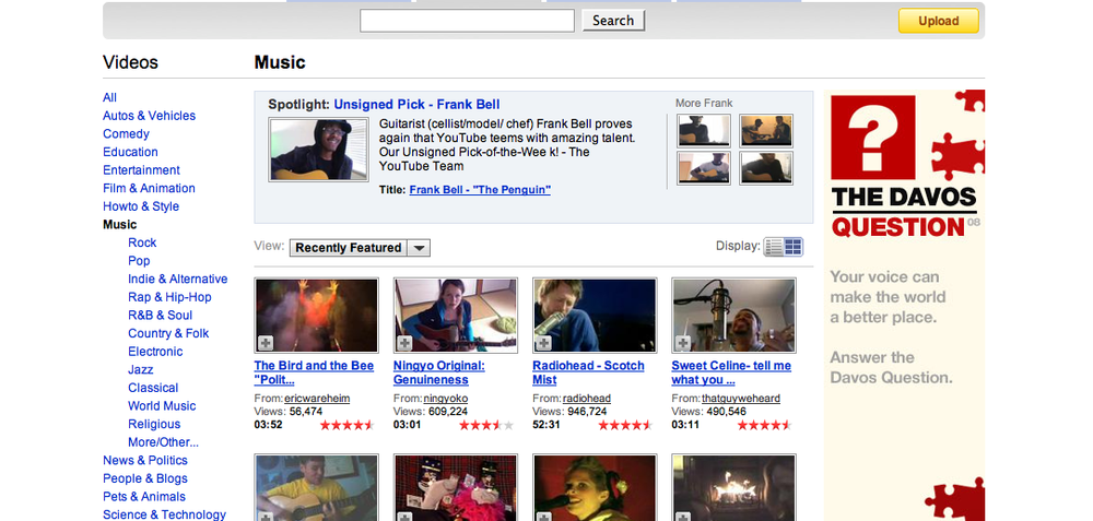 """Image of Frank Bell's """"YouTube Sessions"""""""