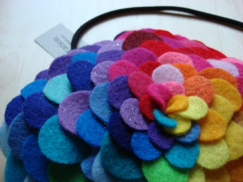 Image of giant rainbow lush petals headband // made-to-order
