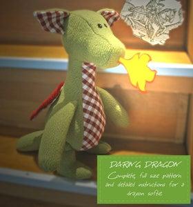 Image of Daring Dragon Sewing Pattern (PDF)