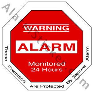 Image of 4 Authentic Home Security Alarm Stickers