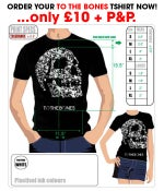 Image of To The Bones Skull Design T-Shirt