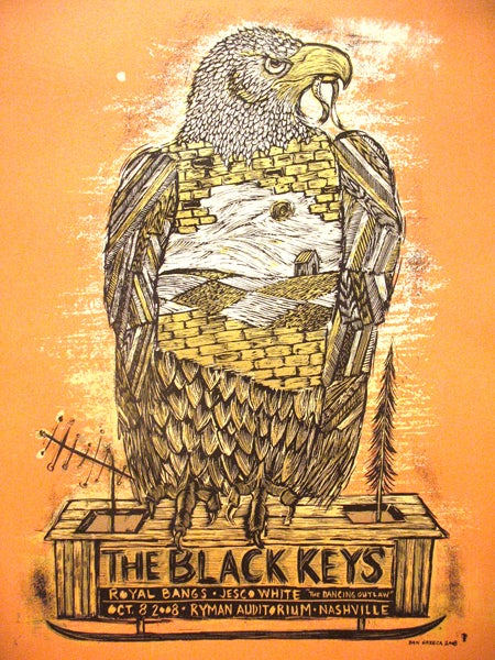 Image of The Black Keys Nashville Orange 2008