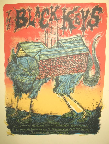 Image of The Black Keys 2009 Tour Poster