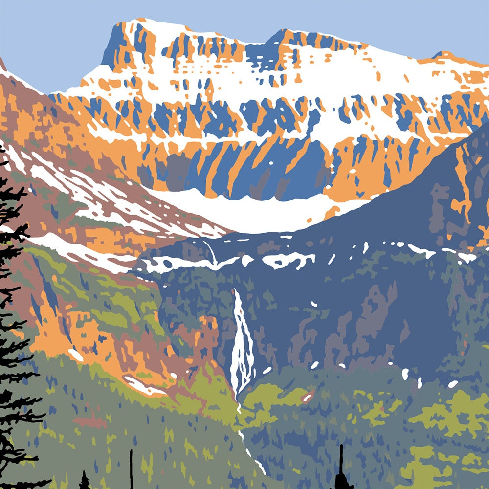 Image of Glacier National Park Limited Edition Serigraph - Birdwoman Falls