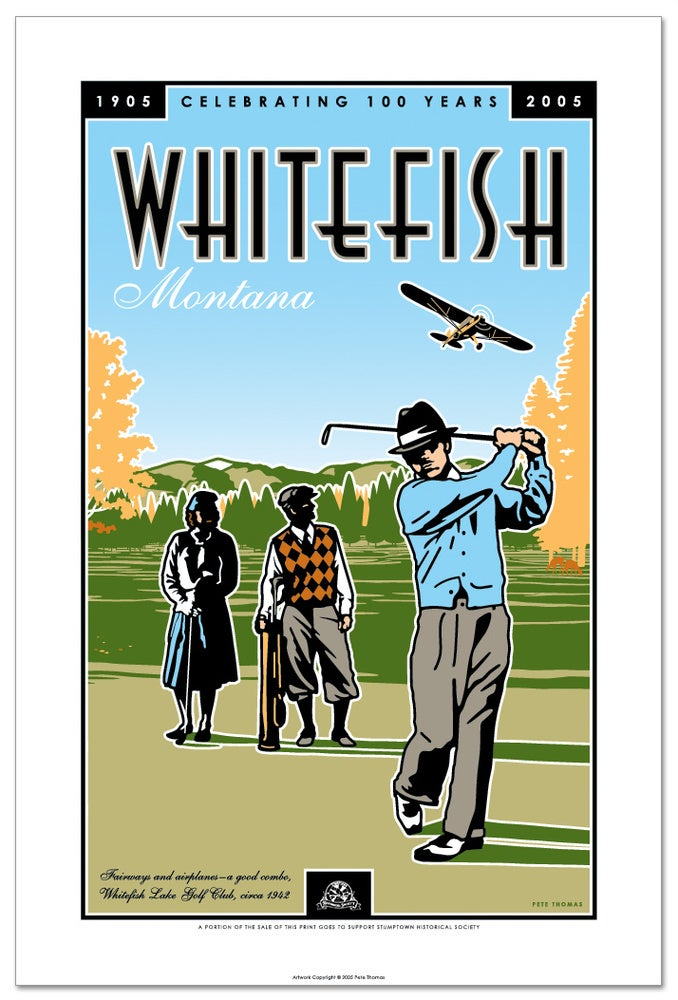 Image of Whitefish Centennial - Golf Poster