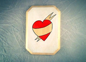 Image of Heart Banner Tattoo - customizable