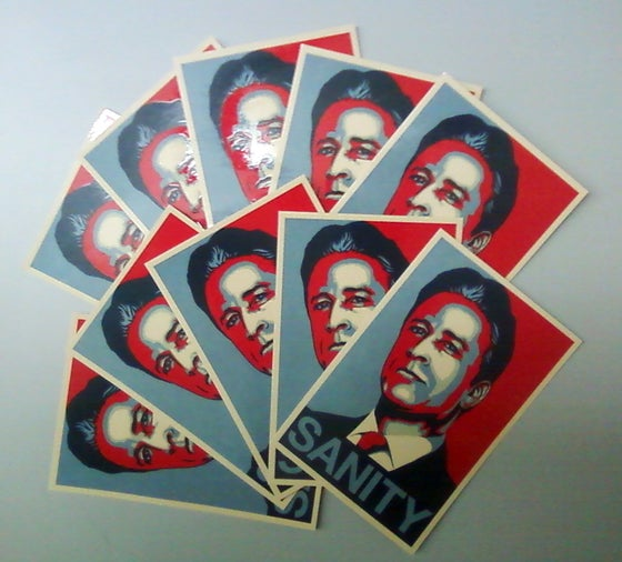 Image of Jon Stewart - SANITY Sticker (10 Pack)