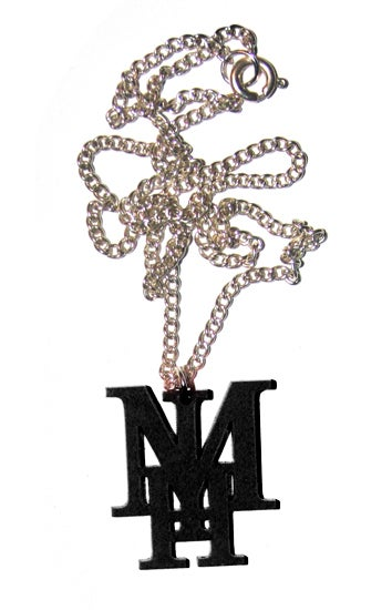 Image of Black MIH Necklace