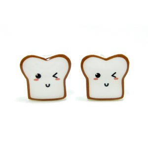 Image of Bread Buddy 3 Earrings - Sterling Silver Posts