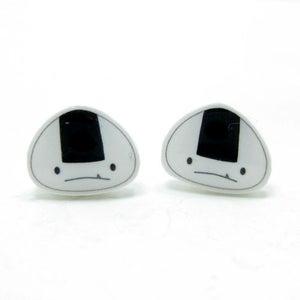 Image of Onigiri Earrings - Sterling Silver Posts