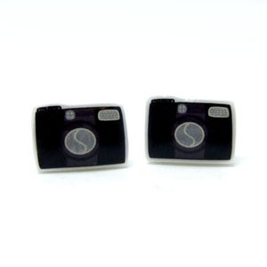 Image of Camera Earrings - Sterling Silver Posts