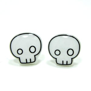 Image of Skull Earrings - Sterling Silver Posts