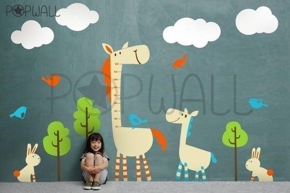 Kids Vinyl Wall Decal Sticker Art Tall Horse With Animal