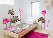 Image of Vinyl Wall Decal - NEW DESIGN Flower Gathering - 067