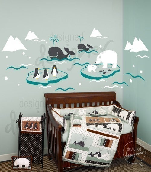 Wonderful Arctic Polar Bears Whales Penguins Dd1038