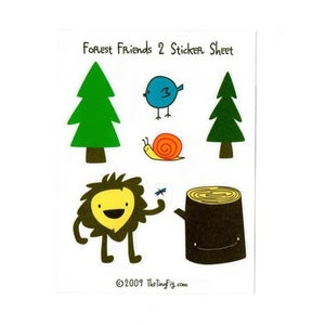 Image of Forest Friends 2 Sticker Sheet
