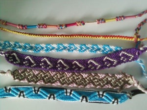 Image of String made bracelets