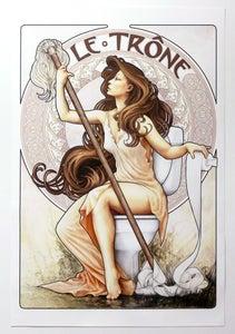 Image of LE TRÔNE giclée print