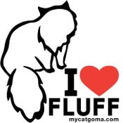 Image of I Love Fluff Bumper Sticker 4X4 Color