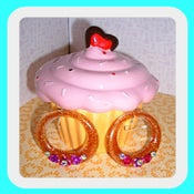 Image of Rose Hoop Earrings