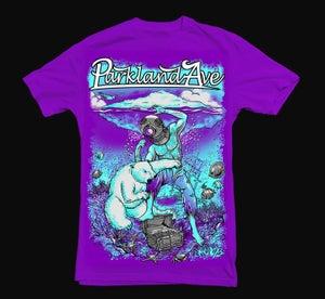Image of Polar Bear Brawl Tee(Purple)