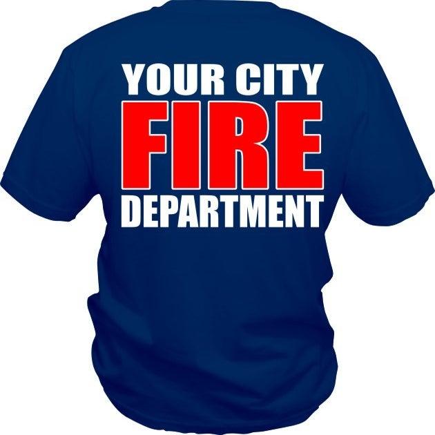Custom fire department t shirt five star designz for Fire department tee shirt designs