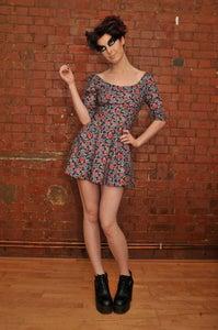 Image of DOROTHY FLARE DRESS FLORAL