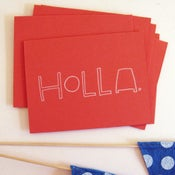 Image of holla gocco card, available in 5 colors