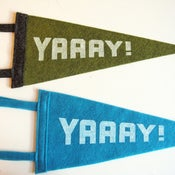 Image of yay! felt pennant