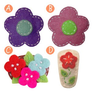 Image of little girl hair clips #10
