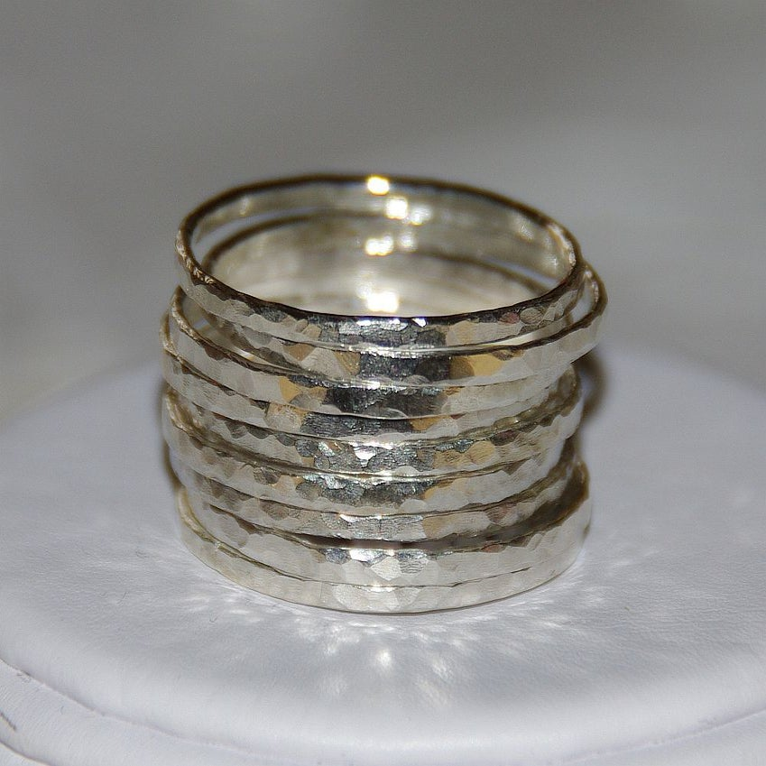handmade stackable mothers rings stack bangles custom