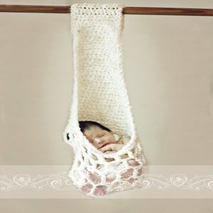 Image of Kangaroo Stork Pouch Hanging Photography Prop crochet pattern