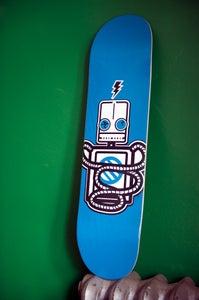 Image of Robot Skateboard- BLUE