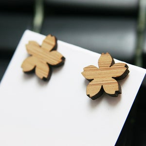 Image of Bamboo Sakura Stud Earrings
